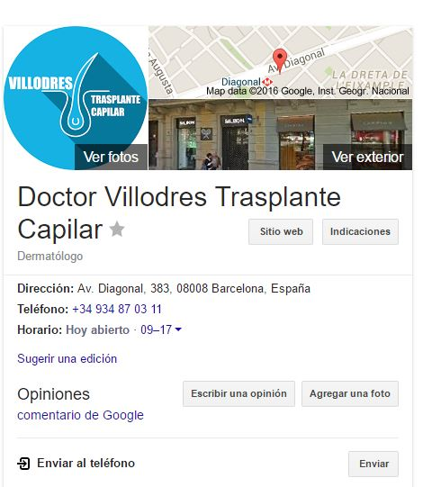 doctor villodres google my business